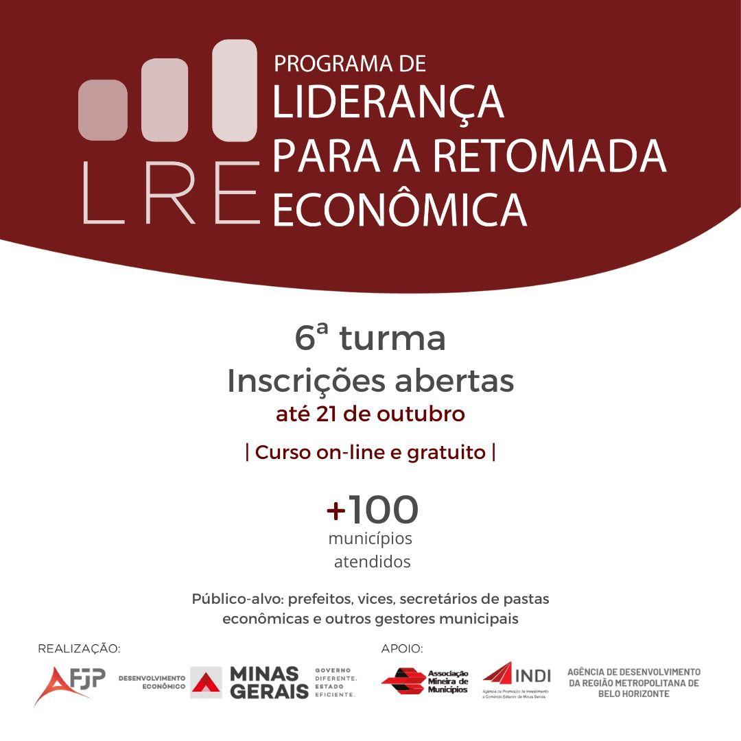Última chamada para inscrições no Programa de Liderança para a Retomada Econômica